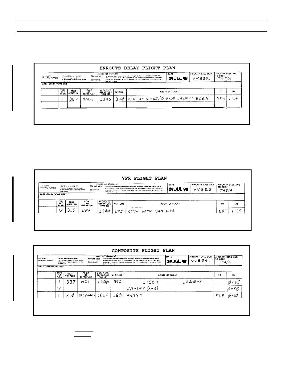 DD 175   Enroute Delay Flight Plan